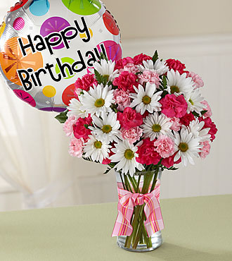 The Sweet Surprises® Bouquet by FTD® - Birthday Balloon Included