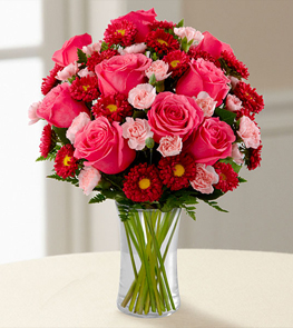 The Precious Heart™ Bouquet by FTD® - VASE INCLUDED
