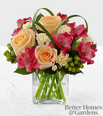 The FTD® All Aglow™ Bouquet by Better Homes and Gardens® - VASE INCLUDED