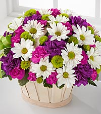 The Blooming Bounty™ Bouquet by FTD® - BASKET INCLUDED