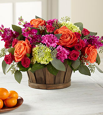 Le bouquet New Sunrise™ - PANIER INCLUS