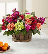 Le bouquet New Sunrise™ - PANIER INCLUS