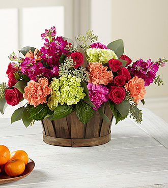 The FTD® New Sunrise™ Bouquet - BASKET INCLUDED