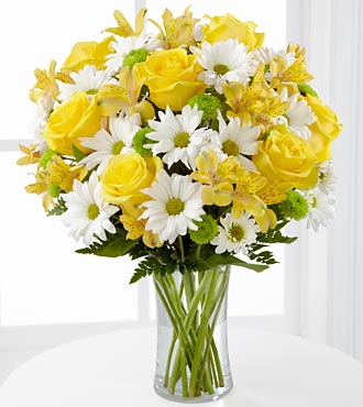 The Random Acts of Flowers Sunny Sentiments™ Bouquet by FTD® - VASE INCLUDED