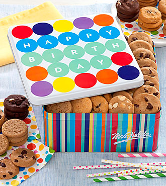 Mrs. Fields® Happy Birthday Balloon Tin - Best