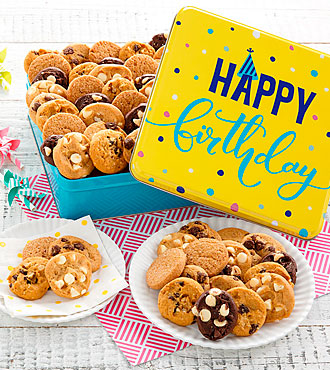 Mrs. Fields® Happy Birthday 60 Nibblers® Tin
