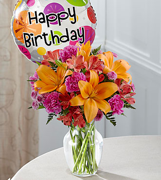 The FTD® Light of My Life™ Bouquet -Birthday Balloon Included