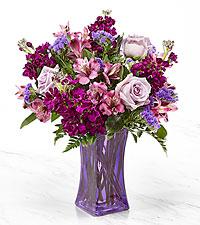 Le bouquet Purple Presence™ – VASE INCLUS