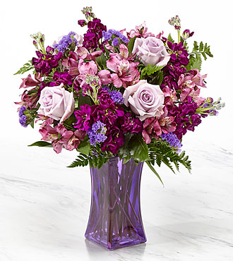 Purple Presence Bouquet Vase Included