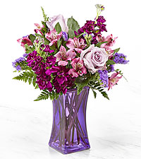 Le bouquet Purple Presence™ – VASE INCLUS