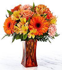 Le bouquet Orange Essence™ – VASE INCLUS