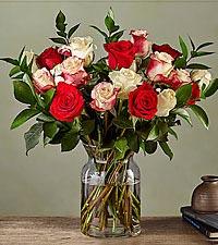 Deluxe Nutcracker Rose Bouquet with Vase