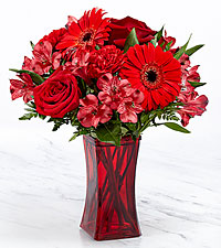 Red Reveal™ Bouquet- VASE INCLUDED