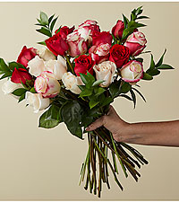 The FTD® Red Reveal™ Bouquet-VASE INCLUDED