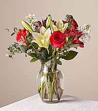 Original Red Velvet Bouquet with Vase