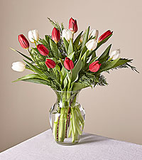 Original New Traditions Tulip Bouquet with Vase