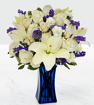 Le bouquet Beyond Blue™ - VASE INCLUS