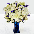 The FTD® Beyond Blue™ Bouquet - VASE INCLUDED