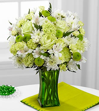 The FTD® Lime-Licious Bouquet - INCLUDES VASE