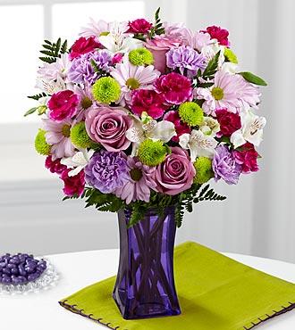 Le bouquet Purple Pop de FTD® - VASE INCLUS