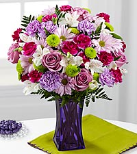 Le bouquet Purple Pop de FTD® - VASE INCLUS
