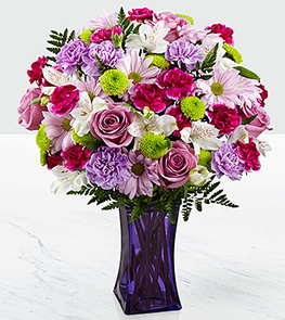 The FTD® Purple Pop Bouquet - VASE INCLUDED