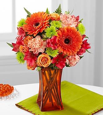 Le bouquet Orange Escape de FTD® - VASE INCLUS