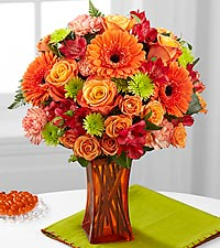 Le bouquet Orange Escape de FTD® - VASE INCLUS