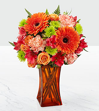 The FTD® Orange Escape Bouquet - VASE INLCUDED