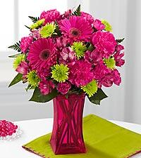 Le bouquet Raspberry Sensation de FTD® - VASE INCLUS