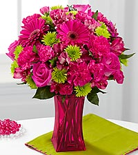 Le bouquet Raspberry Sensation de FTD® - VASE INCLUS
