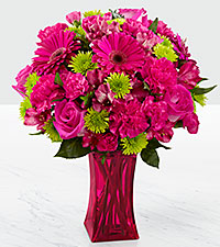 The FTD® Raspberry Sensation Bouquet - VASE INCLUDED