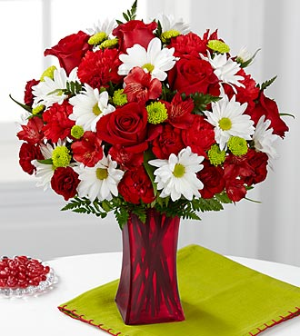 The FTD® Cherry Sweet Bouquet - VASE INCLUDED