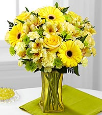 The FTD® Lemon Groove Bouquet - VASE INCLUDED