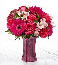 Le bouquet Raspberry Rush™ – VASE INCLUS