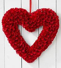 Open Your Heart Woodchip Wreath