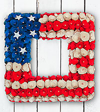 Heart of the Homeland Everlasting Woodchip Wreath