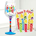 Birthday Cheer Wine Glass & Pop Up Card Gift Set