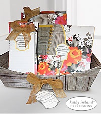 Kathy Ireland Wild Flower Stationery Gift Basket