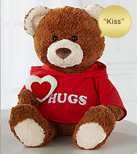Gimme a Hug Plush Bear with Kiss Sound