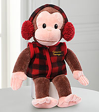 Holiday Curious George Plush