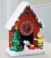 Charlie Brown and Snoopy Musical Clock