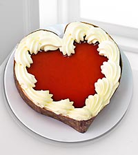 Eli's Heart-Shaped Cheesecake