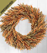 Harvest Greetings Dried & Preserved Wreath