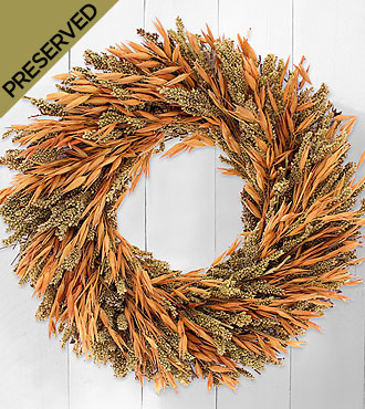 Harvest Greetings Dried & Preserved Wreath