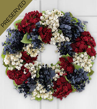Land of the Free Everlasting Patriotic Wreath