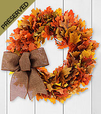 Fall Flair Dried & Preserved Wreath