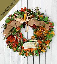 Autumn Elements Everlasting Wreath