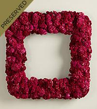 Fuchsia Chic Coxcomb Everlasting Wreath