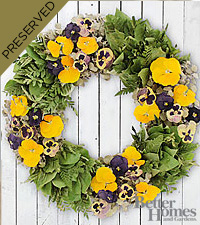 The FTD® Pansy Perfection Everlasting Garden Wreath by Better Homes and Gardens®